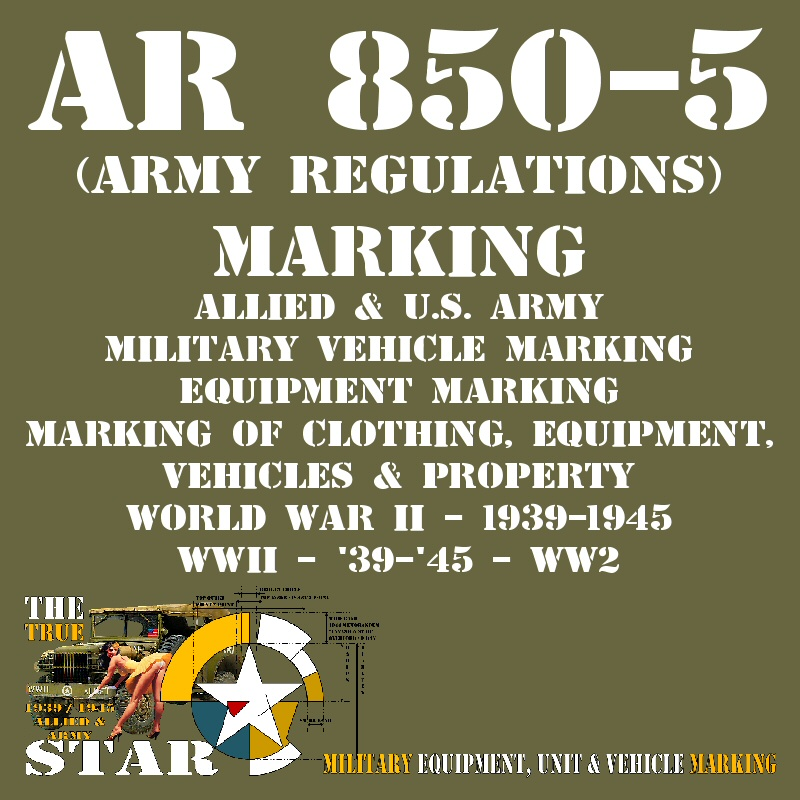 AR 850-5 (ARMY REGULATIONS)