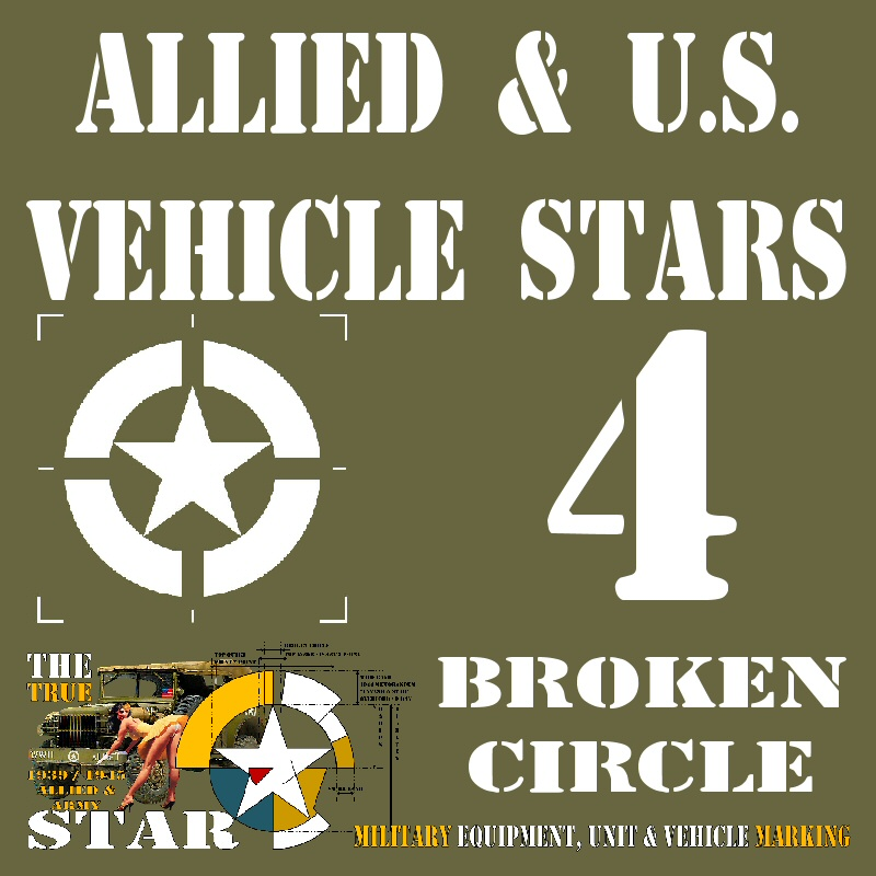 Allied & U.S. Vehicle STARS - 4 Broken Cirle