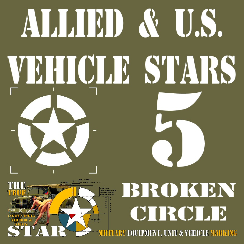Allied & U.S. Vehicle STARS - 5 Broken Cirle