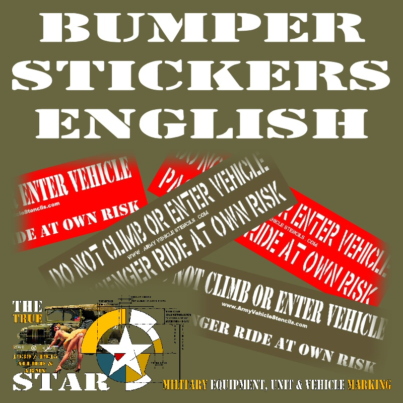 Bumper Stickers in English