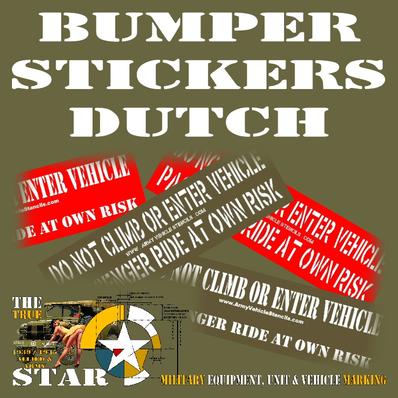 Bumper Stickers in Dutch