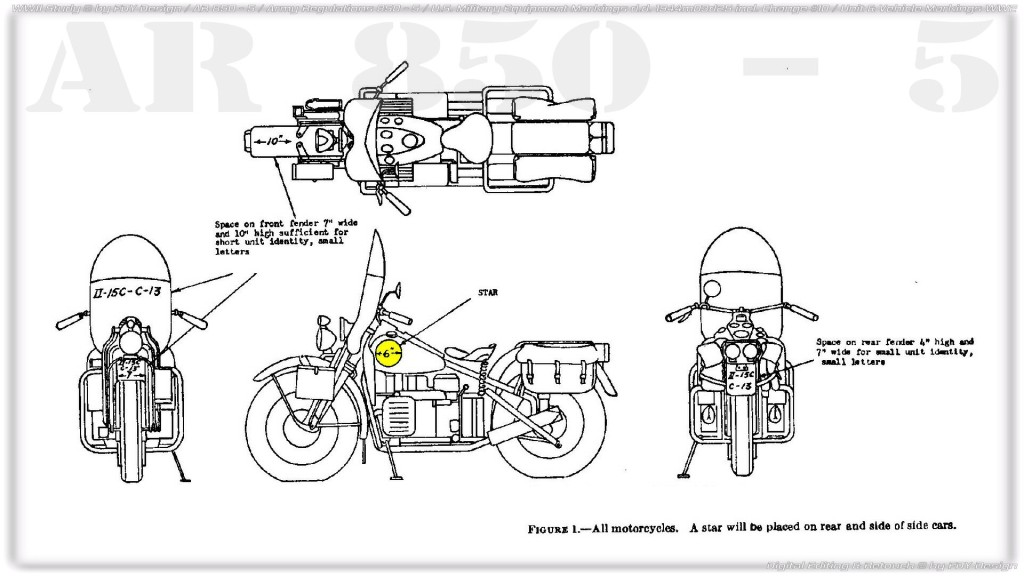 AR 850-5 Motorcycle H-D WLA WLC Indian