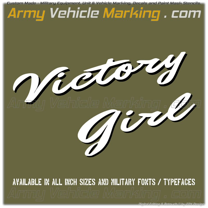 Stencil HAND 1940s Victory Girl
