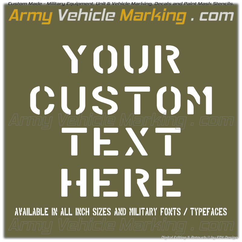 WEBSHOP – Army Vehicle Marking   com © by FDY Design
