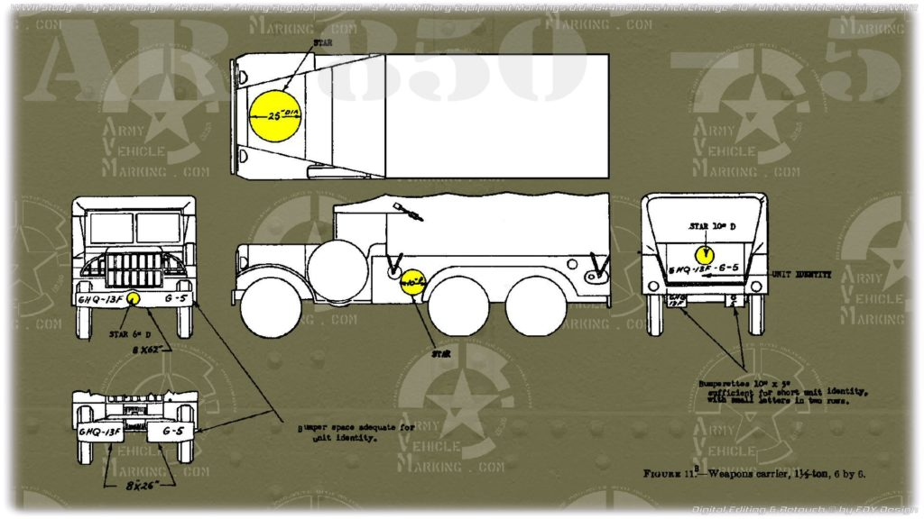 AR 850-5 Dodge 6x6 Weapons Carrier WC-62 WC-63