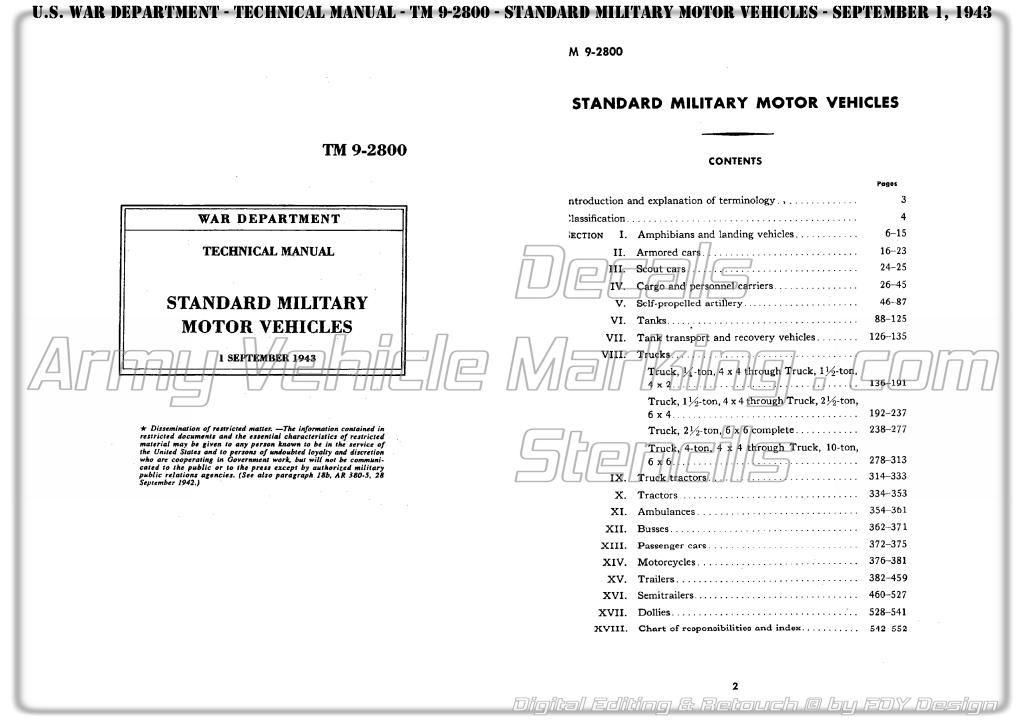 TM 9-2800 Standard Military Motor Vehicles – Army Vehicle