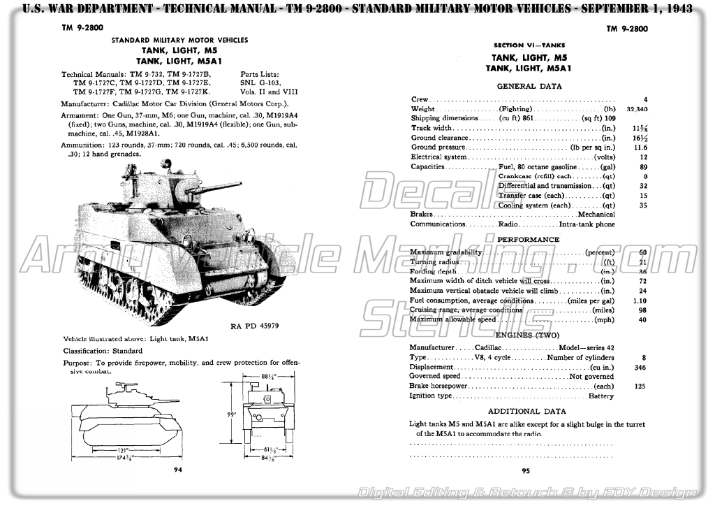 TM 9-2800 Standard Military Motor Vehicles – Army Vehicle