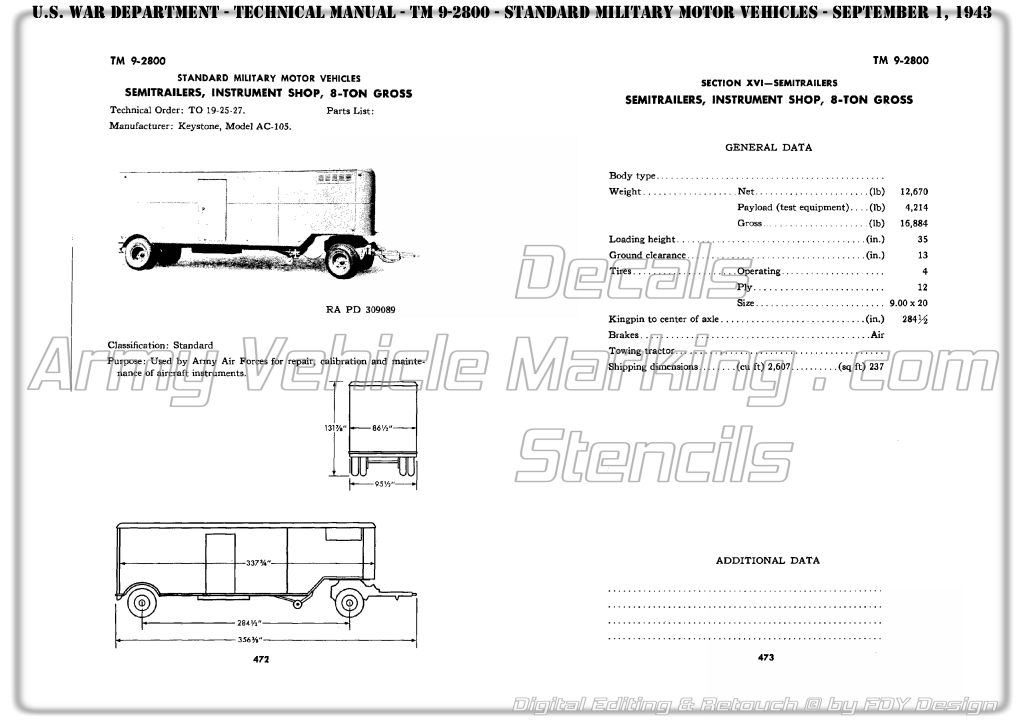 AVM by FDY Design TM 9-2800 1943 page 472 – Army Vehicle