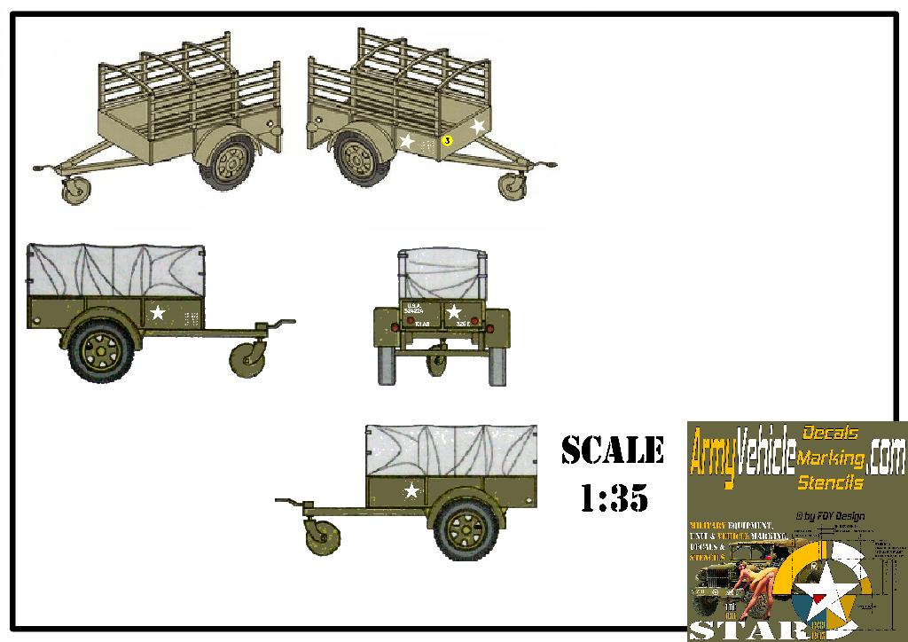 G-518 BEN HUR Cargo Trailer A3 format 1-35 scale 1024