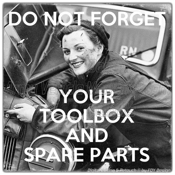 1942 / 1943 UK Navy - Working Women - Toolbox & Spare Parts